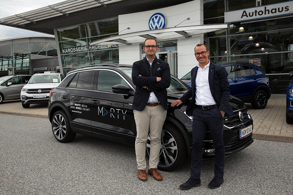 Investieren in die Evolution der Mobilität: Benjamin Zeilinger und Bernhard Scheer.